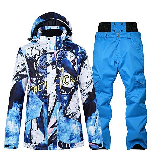 Skikleding heren pak enkele en dubbele plank waterdicht groot formaat winter verdikking outdoor reizen,Top + pants 6l