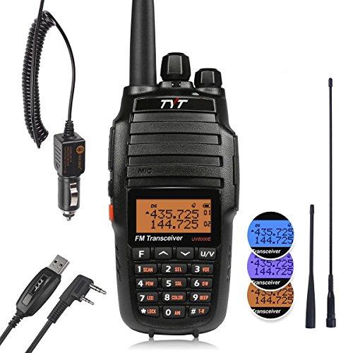 TYT UV-8000E walkie-talkie-apparaat, bereik tot 10 km, zendvermogen tot 10 W, met 3800 mAh accu, oplader en programmeerkabel