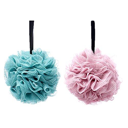 G2PLUS Soft Body Badspons, spons, douchespons, zeepspons, puff, verpakking van 2 stuks