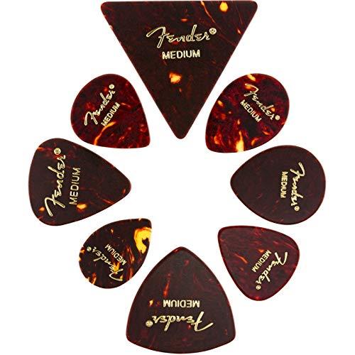 Fender© Celluloid Medley, tortoise picks, M (8 stuks), 0980200300