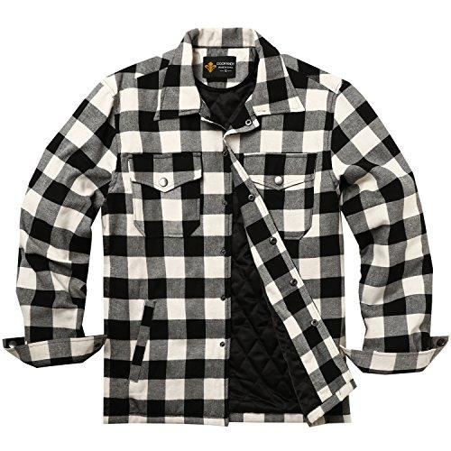 COOFANDY Overhemd heren geruit binnenvoering winter houthakkershemd thermohemd hemdjas winterjas mantel