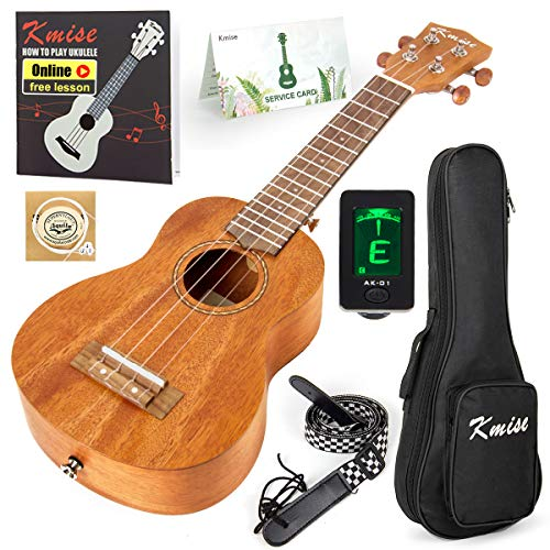 Kmise Sopraan Ukelele Starter Kit 53,3 cm mahonie ukelele voor beginners met gigbag tuner riem handleiding string
