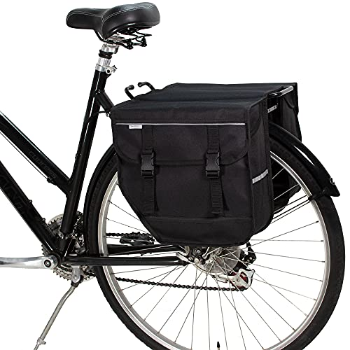 BikyBag Model M - fiets dubbele fietstassen - fiets fiets fietstas voor achterrek (zwart)