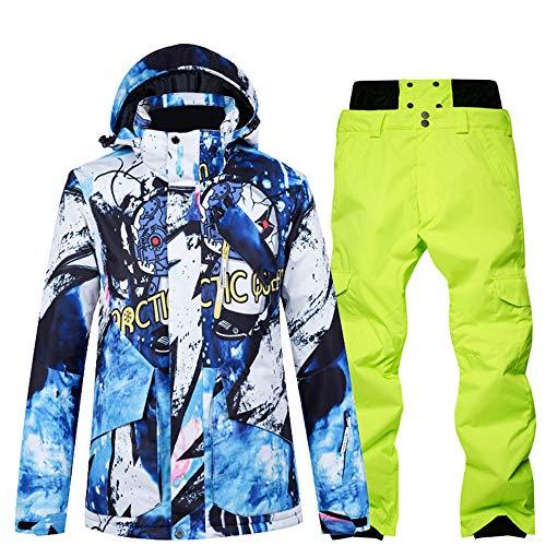 Skikleding heren pak enkele en dubbele plank waterdicht groot formaat winter verdikking outdoor reizen,Top + pants 5s