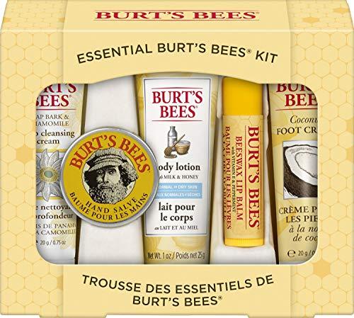 Burt's Bees Cadeauset, 5-Delig, In Reisformaat, Diepwerkende Reinigingscrème, Handcrème, Bodylotion, Voetcrème En Lippenbalsem