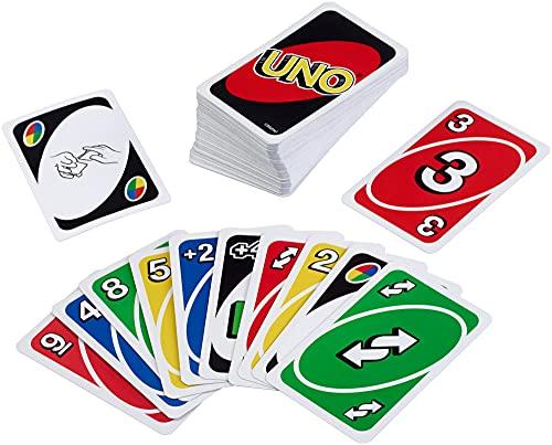 Mattel Games Siva _226874 W2087 UNO kaartspel en gezelschapsspel, geschikt voor 2 - 10 spelers, kaartspellen en gezelschapsspelen vanaf 7 jaar