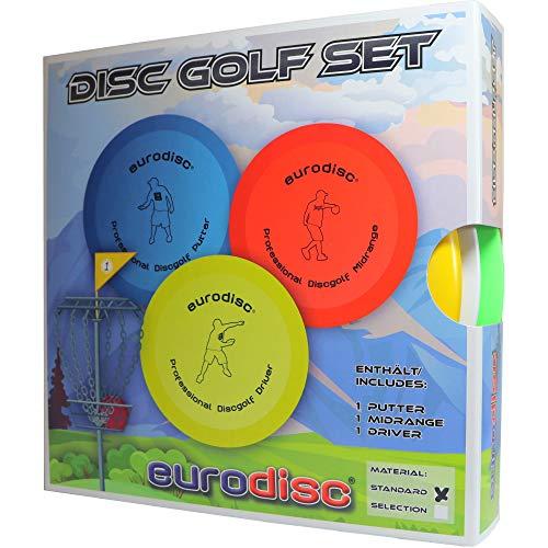 Eurodisc Disc-Golf beginners starterset, PDGA goedgekeurd, Putter Midrange Driver Disc