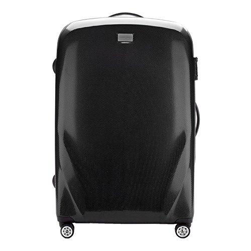 Wittchen grote koffer trolley materiaal polycarbonaat gewicht 4,8 kg 85L 4 zwenkwielen cijferslot harde rubberen handgrepen Zwart