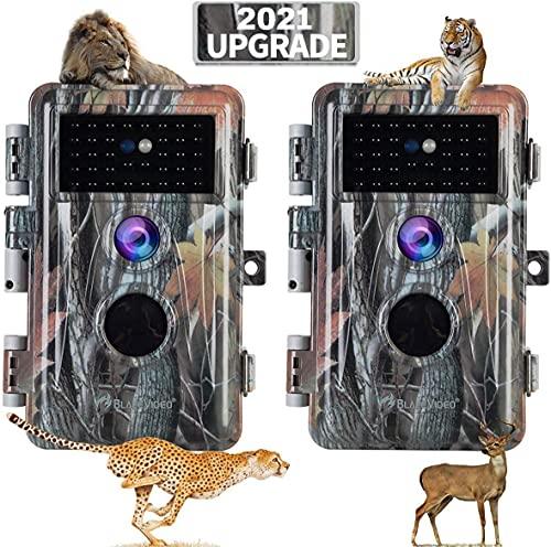 [Nieuw] BlazeVideo Wildlife Camera 20MP 1080p Beveiligingscamera Game Wildlife Pathfinder Trail Animal Digitale Camera Bewegingsdetectie Waterdicht met Nachtzicht IR & PIR, 2.31