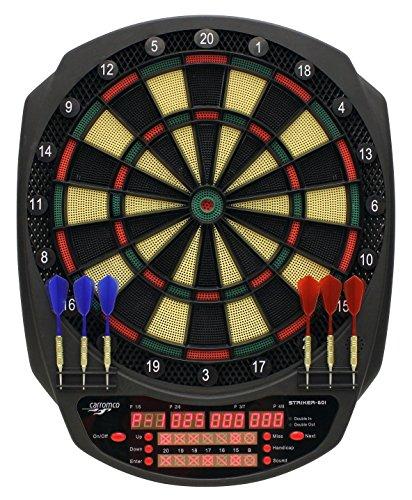 Carromco Striker 601 Elektronisch dartbord, uniseks, voor volwassenen, zwart, rood, groen, geel