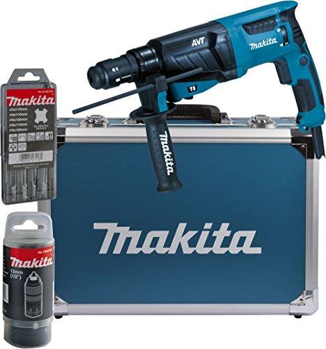 Makita HR2631FT13 Combihamer Voor SDS-Plus, 26 mm, Aluminium Koffer, Blauw/Zilver