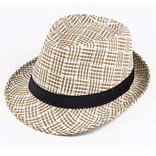 WaWeiY Hoeden Midden-leeftijd zomerhoed heren hoed Jazz hoed papa zomer vizier ademend gras koele hoed oude netto cap (kleur: B beige)