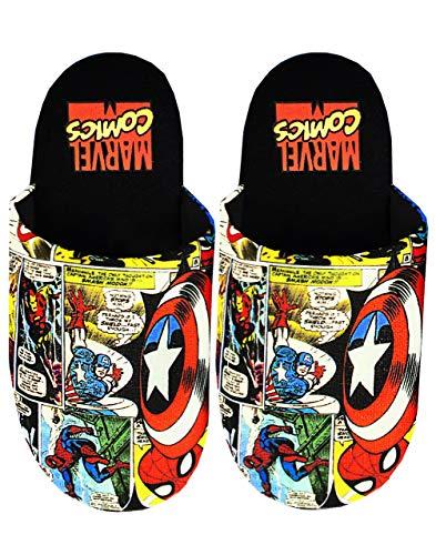 Marvel Avengers Comic Men's Multi-coloured Polyester Slippers