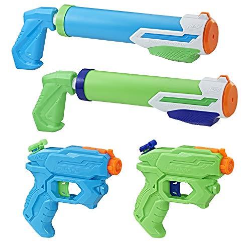 Hasbro Super Soaker Floodtastic Waterpistool met 4 stuks