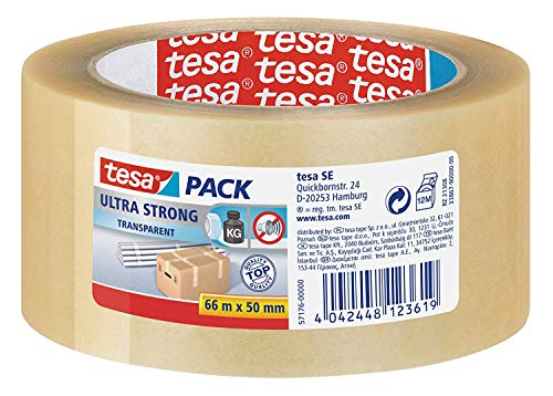 Tesa Pvc Ultra Strong 66 m x 50 mm Transparant, lichtbruin