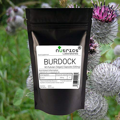 Nutrics® 100% Pure 530mg kliswortel   90 veganistische capsules (1 maand voorraad)   Made in the UK by Nutrics Laboratories   Geschikt voor Veganistische Vegetarische Halal Kosher