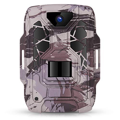 TMEZON Wildcamera Fotoval 1080P Full HD 12MP jachtcamera groothoek visie infrarood 20m nachtzicht waterdicht IP66 bewakingscamera wilddier camera voor jacht en dierobservatie, 16 GB SD-kaart