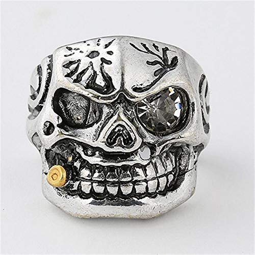 CHCO Vintage Gothic schedelringen mannen mode hip hop Turks mannelijk punk ringen skelet steampunk sieraden cadeau 12 12