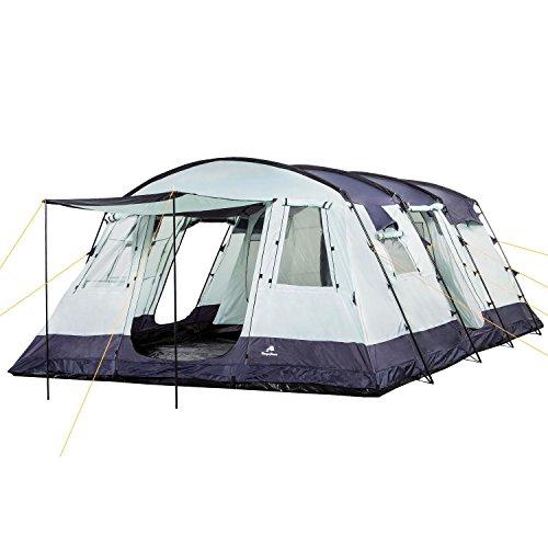 CampFeuer Familietent XtraL Tent voor 6 personen, enorme voortent, 5000 mm waterkolom, campingtent, tunneltent groot