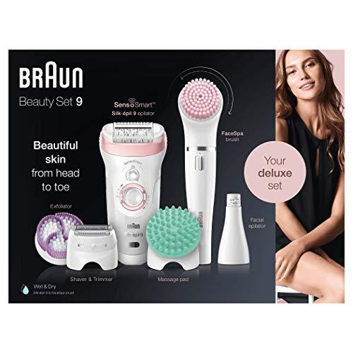Braun Silk-épil Beauty Set 9 9-995 Deluxe Epilator, Scheerapparaat, Scrubben En Reiniging