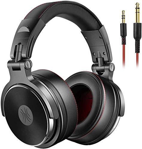 OneOdio HiFi Hoofdtelefoon Over Ear met kabel, Share-Port, Memory-Protein Ear Pads, 50 mm driver voor DJ, Podcast, Opname, AMP, Adaptervrije Gesloten Studio-hoofdtelefoon met 6,35 en 3,5 mm Jack