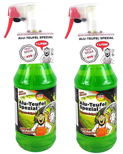 TUGA Chemie 2 x 1 liter Alu-Teufel Velgenreiniger Speciale zuurvrije actieve gel voor velgen en wieldoppen. Biologisch afbreekbaar