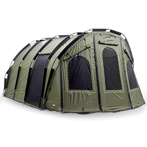 Lucx® Bigfoot Bivvy vistent voor 4 tot 6 personen, karpertent, 2, 3, 4, 5 en 6 personen, visserstent Carp Dome Fishing Tent