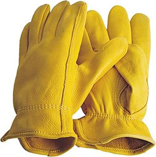 Hertenlederen handschoenen Premium rijhandschoenen Western Cowboy, geel maat 7 / XS tot maat 12 XXL