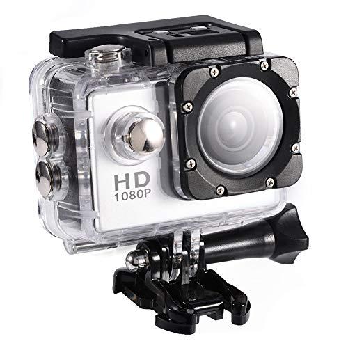 VBESTLIFE Action Cam, 7 kleuren onderwater 30M waterdicht buiten fietsen Sport Mini DV actiecamera Camcorder ondersteuning 32GB TF-kaart (zilver), meertalig
