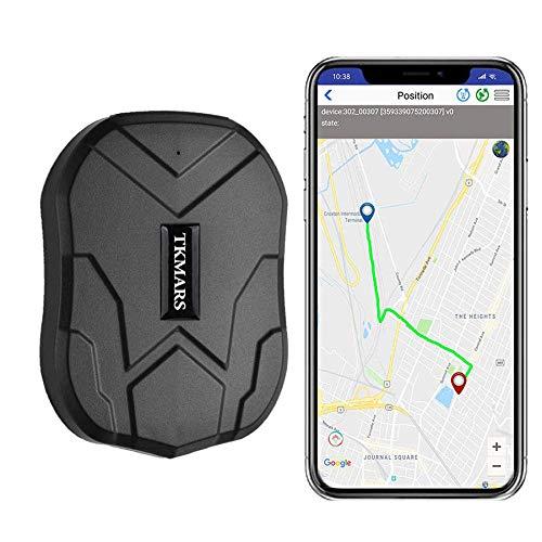 Winnes Sterke Magneet GPS Tracker, 3 maanden lang stand-by GPS, voertuigtracker real-time monitoringssysteem, waterdicht GPS-locator, anti-verlies GPS-detectieapparaat met gratis app voor smartphone TK905