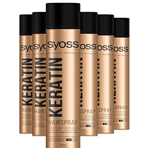 Syoss Keratin Haarspray 400ml , 6 stuks