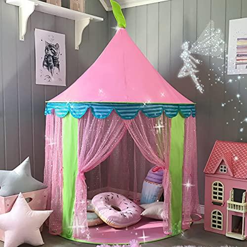 Kindertent Princess Castle voor meisjes-Glitter Castle Pop-up speeltent met Fairy Stick en draagtas - Kinderspeelhuis speelgoed voor binnen- en buitenspel 41