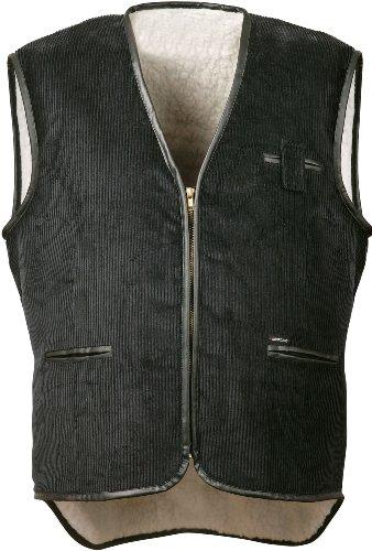 Corduroy vest met nepbont zwart maat XXL