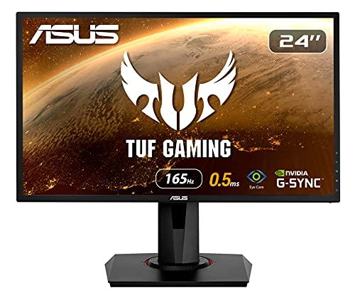 ASUS VG248QG Gaming Monitor, 24 inch (Full HD, G-Sync compatibel, DVI, HDMI, DisplayPort, 0,5 ms reactietijd, tot 165 Hz), Zwart