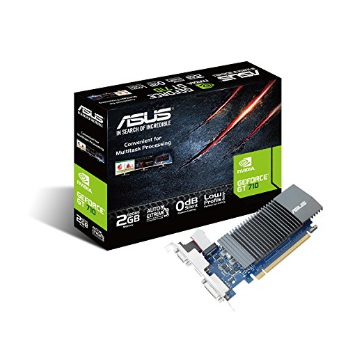 ASUS NVIDIA GeForce GT710-SL-2GD5-BRK grafische kaart (Nvidia, PCI-E 3.0, 2GB DDR5 geheugen, 1xHDMI, 1xDVI)