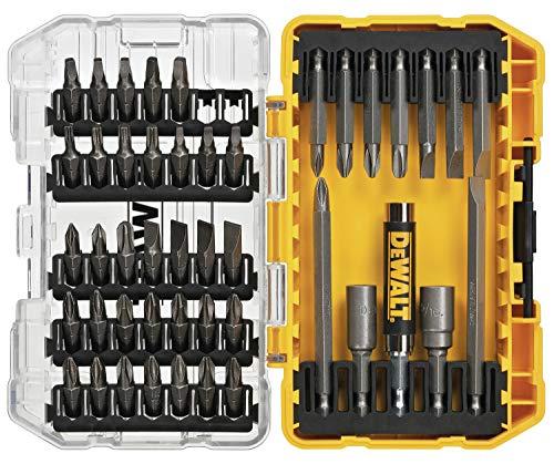 DEWALT DW2166 45 stuks, 20 W, 20 V, grijs/zilver schroevendraaierset met stevige koffer