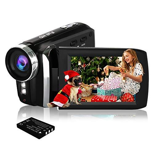HG8250 digitale videocamcorder FHD 1080P 24MP 270 graden draaibare flip-screen videocamera voor kinderen/tieners/studenten/beginners/oudere mensen