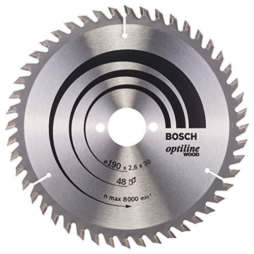 Bosch Professional cirkelzaagblad Optiline Wood voor zagen in hout (voor handcirkelzagen diametro 190 mm)