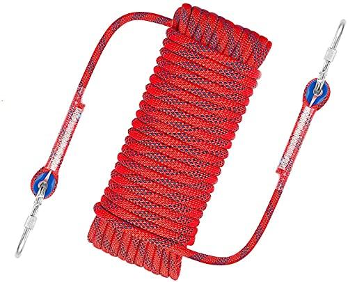 Awroutdoor Nylon touw klimmen veiligheidskabel diameter 10,5 mm met karabijnhaak opslaggewicht 1200 kg voor outdoor wandelen accessoires sport camping