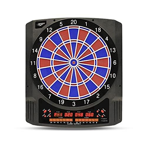Carromco Elektronisch dartbord CLASSIC MASTER 2 - dartbord voor 1-8 spelers - E-dartautomaat met 6 LED-indicatoren, 36 games en 585 varianten - incl. voeding en 6 softdarts