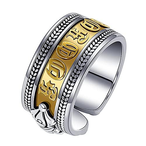 Vajra kleurscheiding Thaise zilveren ring heren trendy persoonlijkheid joint ring retro kleur vervaagt niet open vinger