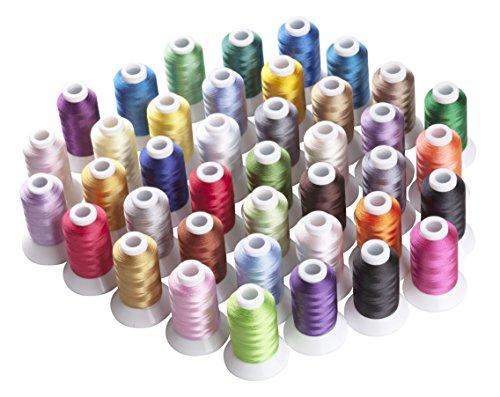 Simthread polyester borduurgaren - 40 kleuren, 550 yards, voor Brother, Babylock, Bernette, Janome, Kenmore, Singer, W6 N 5000 borduurmachine
