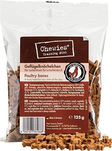 Chewies Hundeleckerli gevogelte enkeltjes - 125 g - trainingslekkernij voor honden - vleessofties zonder suiker - hondensnack met hoog vleesgehalte