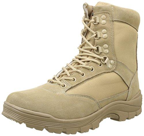 Mil-Tec Heren Tactical Boot M.YKK Rits Laarzen, nude, 43 EU