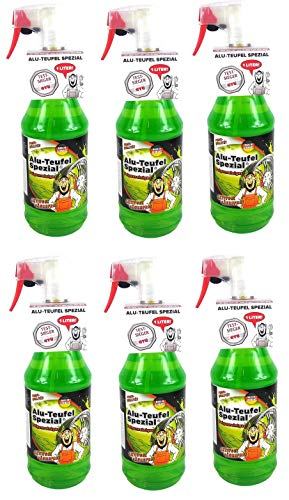 Tuga 6 x 1 liter Alu-Teufel velgenreiniger speciale zuurvrije actieve gel voor velgen en wieldoppen. Biologisch afbreekbaar