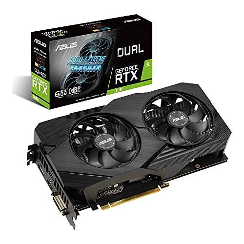 ASUS Dual Nvidia GeForce RTX 2060 6GB EVO Gaming Grafische kaart (GDDR6 geheugen, PCIe 3.0, 1x HDMI 2.0b, 1x DVI, 1x DisplayPort 1.4, DUAL-RTX2060-6G-EVO)