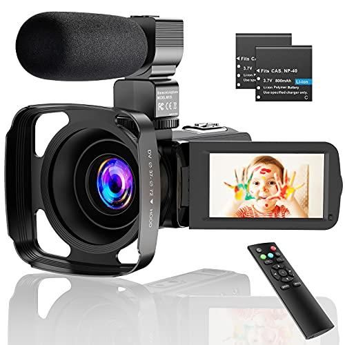 CamVeo 2.7K Video Camera Camcorder, Vlogging Camera met 16X krachtige zoom en 36 Mega pixels IR Nachtzicht Digitaal, Camera Recorder met 3