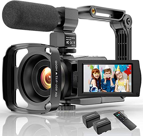 4 K Camcorder Video Camera WIFI 48MP IR Nachtzicht Vlog Camera 16X Digitale Zoom Video Camcorder met Microfoon Camera Houder Lens Hoods