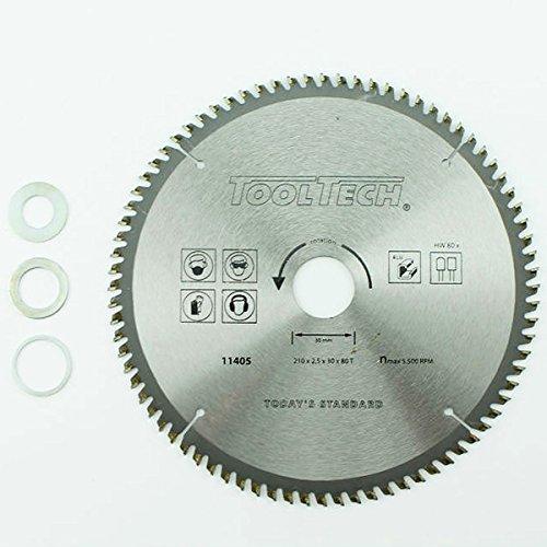 210 x 30 mm HM NE metalen cirkelzaagblad 80 Z 3 reduceerringen aluminium kunststof ijzer