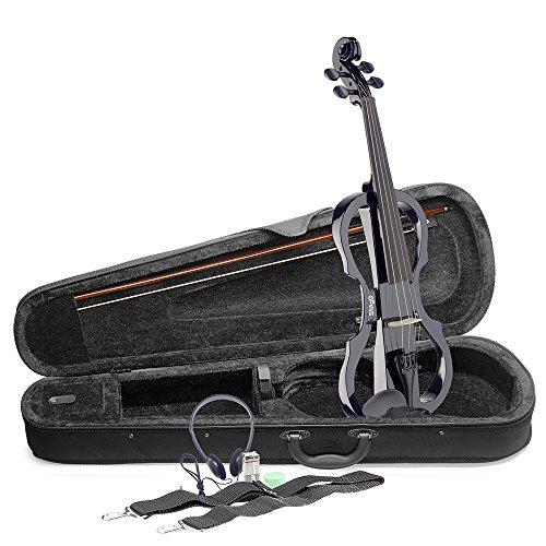Stagg EVN X-4/4 BK Elektrische viool, volledige grootte, zwart